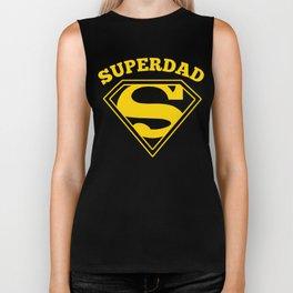 Superdad | Superhero Dad Gift Biker Tank
