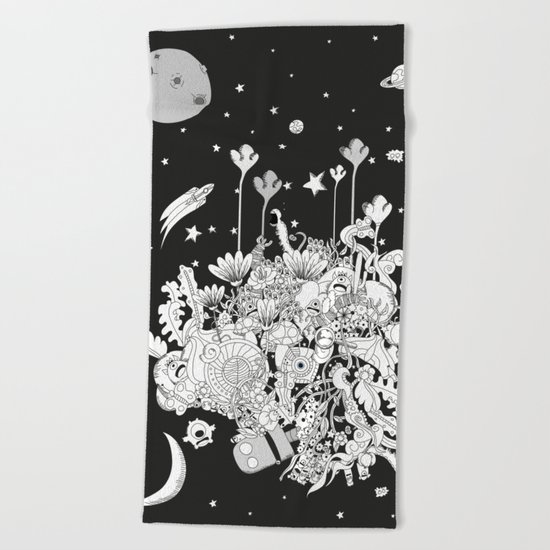 Comic World Beach Towel