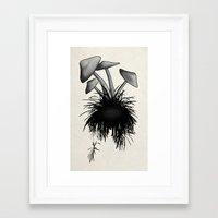 mushrooms Framed Art Prints featuring Mushrooms by Nicklas Gustafsson