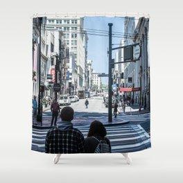 San Francisco street lines Shower Curtain
