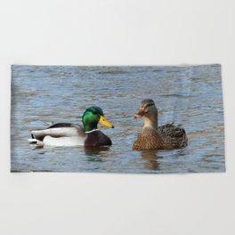 A Pair of Mallard Ducks Beach Towel