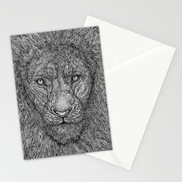 The Lion King of the Jungle by Kent Chua Stationery Cards
