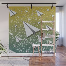 Paper Airplane 109 Wall Mural