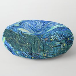 Starry Night at St. Remy Floor Pillow