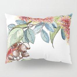 Floral Christmas Wreath, Illustration Pillow Sham