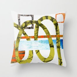 Paper ribbon - part 2/4 Throw Pillow