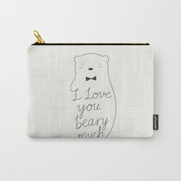 I love your beary much Carry-All Pouch