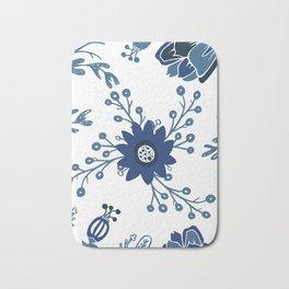 Porcelain Flowers Bath Mat