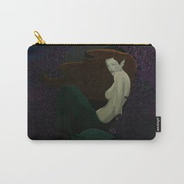 Mermaid in Purple Reef Carry-All Pouch