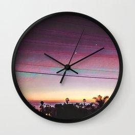 Cardiff Sunset Wall Clock