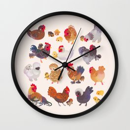 Chicken and Chick Wall Clock