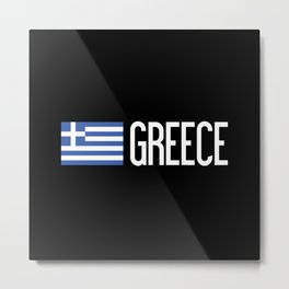 Greece: Greek Flag & Greece Metal Print