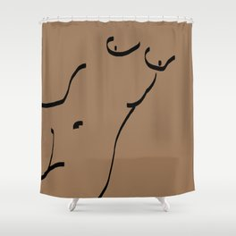 Nude Sketch Shower Curtain