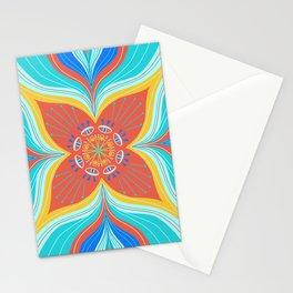 Mystic Eye Mandala - Turquoise & Red Stationery Cards