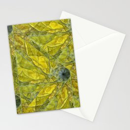 Abstract Yellow-Gold Sundrops Stationery Cards