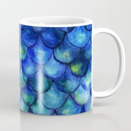 Blue Watercolor Mermaid Coffee Mug