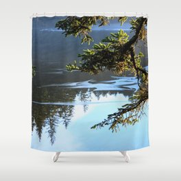 Ice Refelctions Photography Print Shower Curtain