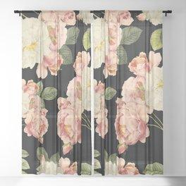 Flora temptation - night Sheer Curtain