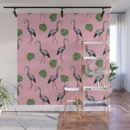 A Flock of Dead Flamingos Wall Mural