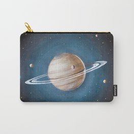 Solar System: Saturn - the Crowned King & his moons Carry-All Pouch