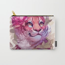 Tiger with Flowers Carry-All Pouch