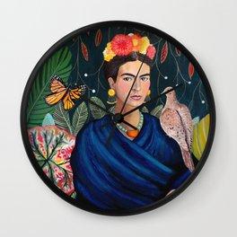 Frida et sa nature vivante Wall Clock