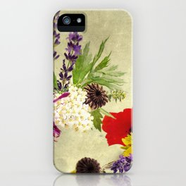 Garden weeds little helpers from nature iPhone Case