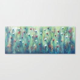 Dancing Field of Flowers Canvas Print
