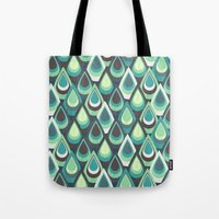 feathers Tote Bags featuring Feathers by Kakel
