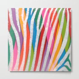 What colour are my stripes ? Metal Print