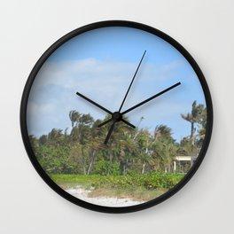 House On The Beach Wall Clock