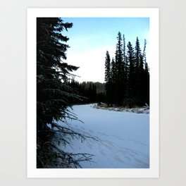 Wintertime in WaterValley Art Print