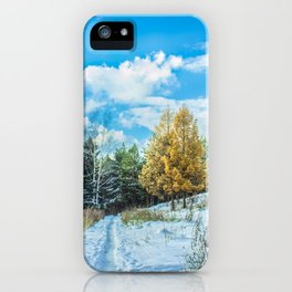 Larch in late autumn iPhone Case