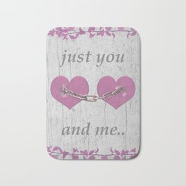 Shabby Chich Love Concept Poster Bath Mat