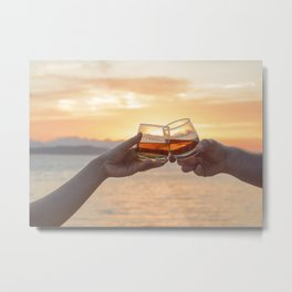 Romantic Evening Toast Metal Print