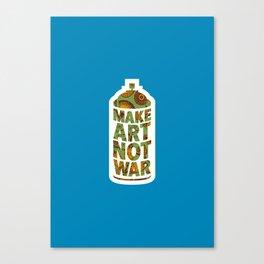 Make Art Not War (African pattern blue) Canvas Print
