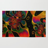 trippy Area & Throw Rugs featuring Trippy by Amanda Moore