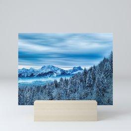 Alpine Snow Winter Wonderland Mini Art Print