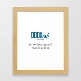 Nose Stuck in a Book Framed Art Print