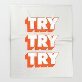 Try Try Try Throw Blanket