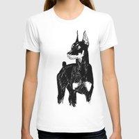 doberman T-shirts featuring Doberman by Cassandra Jean
