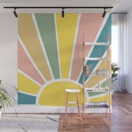 Retro Sun Ray Burst Wall Mural