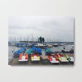 Seaport Photography Metal Print