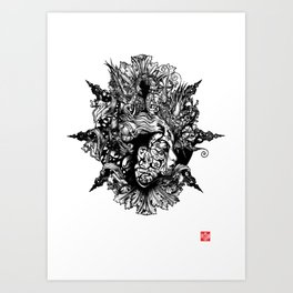 HUMAN FORM DEVINE / no 1 Art Print
