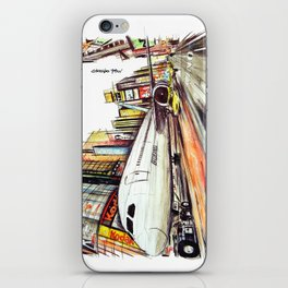 Flight in Times Square iPhone Skin