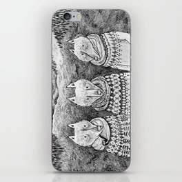 Icelandic foxes iPhone Skin