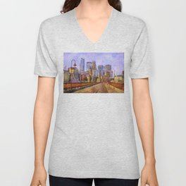 The city is calling my name today. Unisex V-Neck