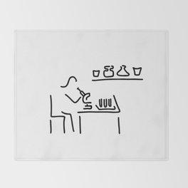 laboratory assistant lab Throw Blanket