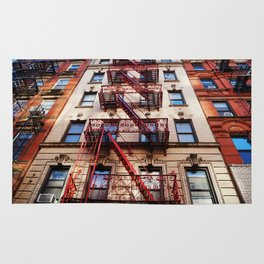 Fancy Red Fire Escape Rug
