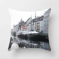 denmark Throw Pillows featuring Denmark by Kayleigh Rappaport